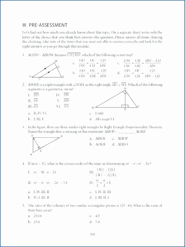 Geometry Worksheet 2nd Grade Grade 9 Geometry Worksheets Similar Triangles Figures