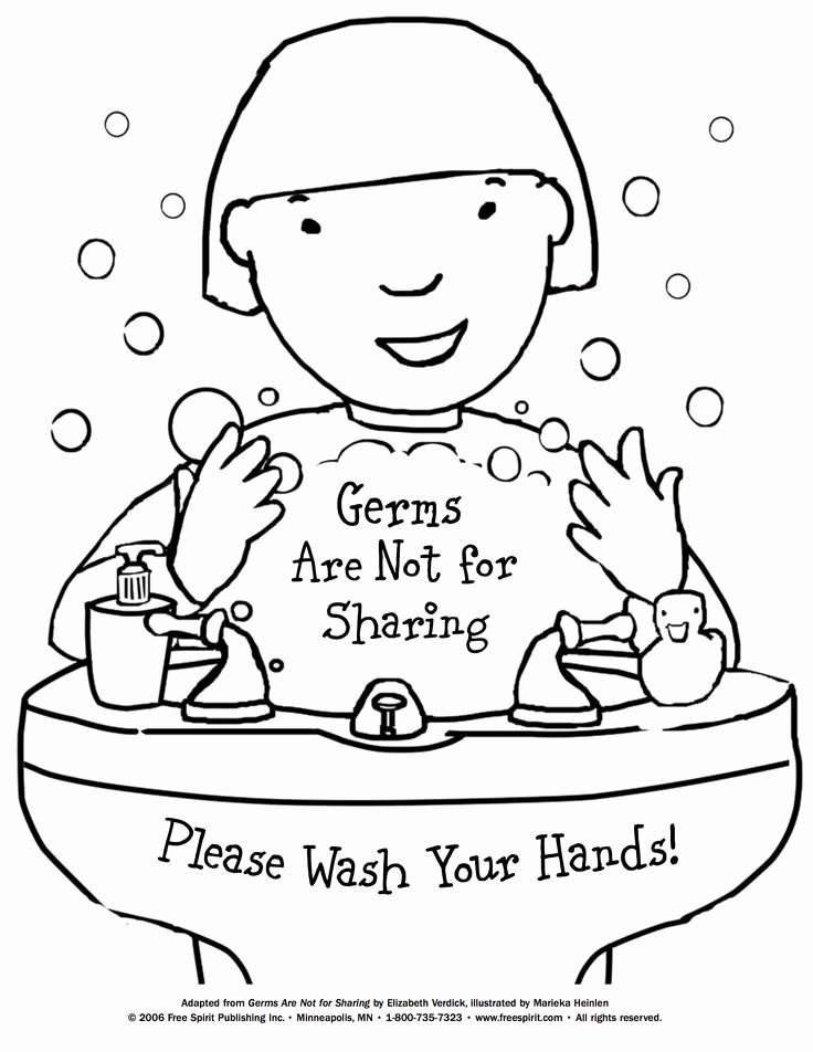 Germs Worksheets for Kindergarten Free Printable Coloring Page to Teach Kids About Hygiene