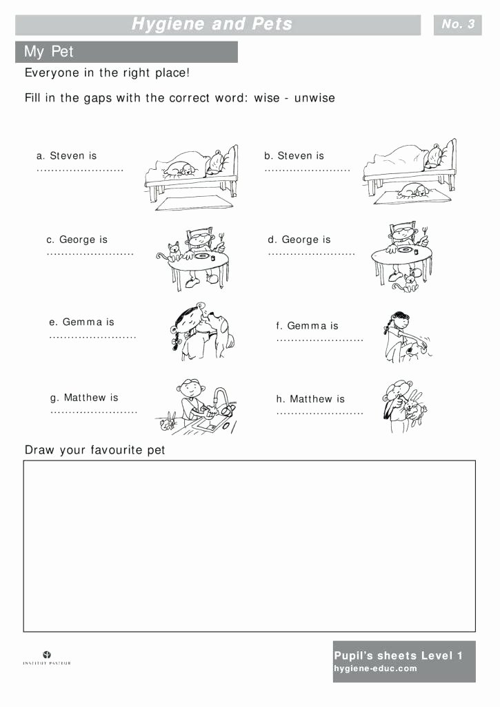 Germs Worksheets for Kindergarten Health and Hygiene Worksheets – Trungcollection
