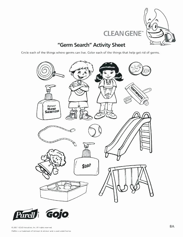 Germs Worksheets for Kindergarten Personal Hygiene Activities Worksheets Printable Collection