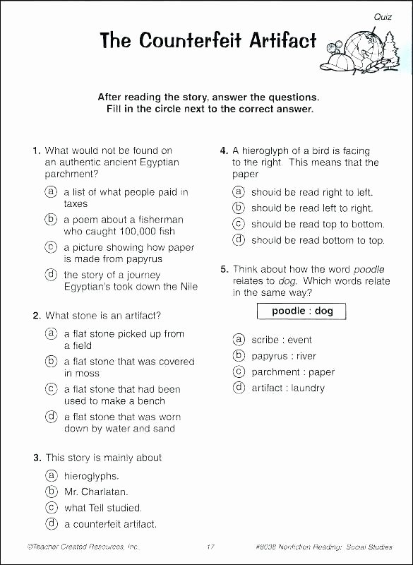 Grade 7 social Studies Worksheets Unique Grade 4 Worksheets Science Worksheet Printable Worksheets