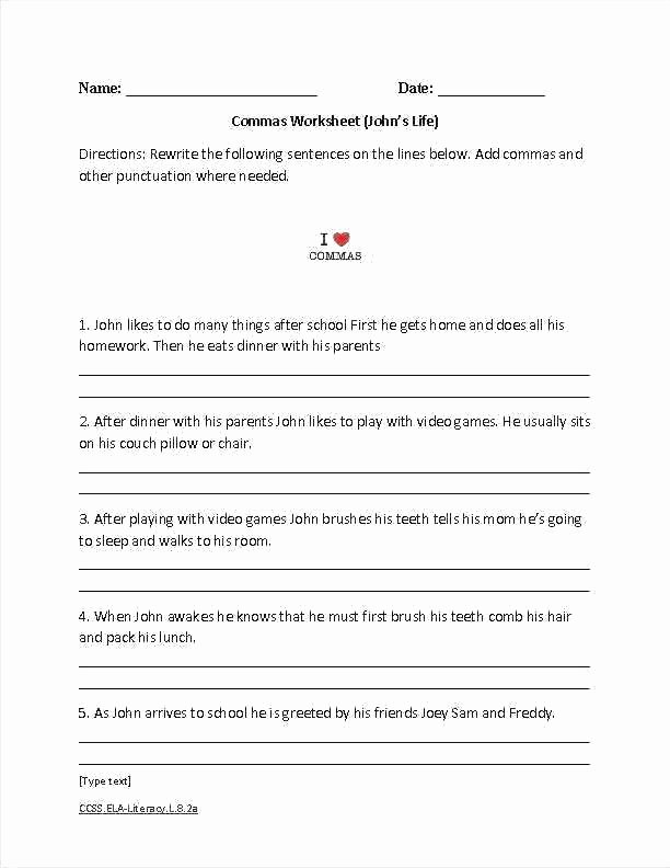 Grammar Worksheet 1st Grade 5th Grade Grammar Lessons