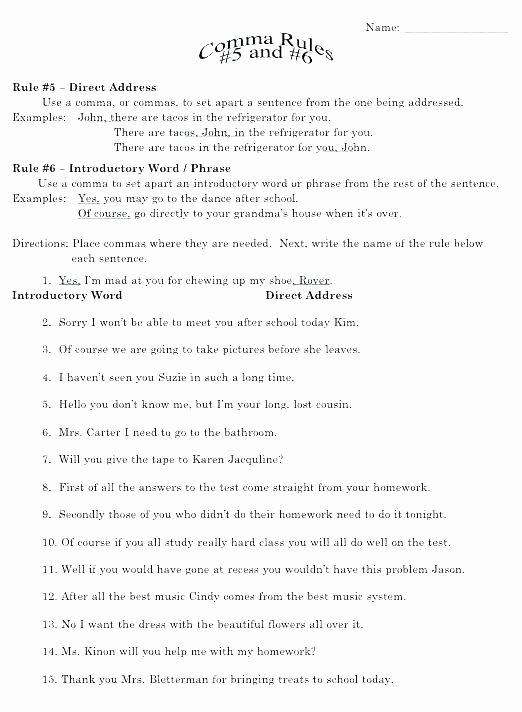Grammar Worksheets for 2nd Grade Fifth Grade Grammar Worksheets