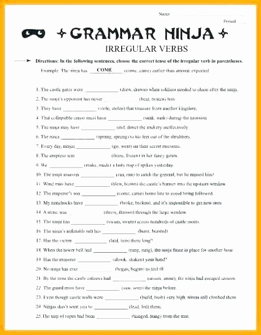 Grammar Worksheets for 3rd Grade Proper Noun Worksheets for Grade Grammar Capitalizing Nouns
