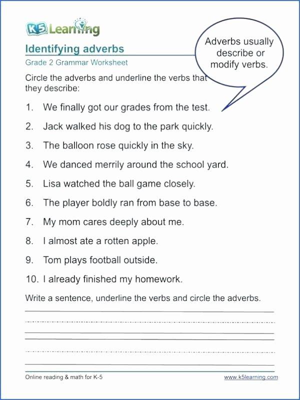 Grammar Worksheets for 3rd Grade Verbs Worksheet 3rd Grade 8