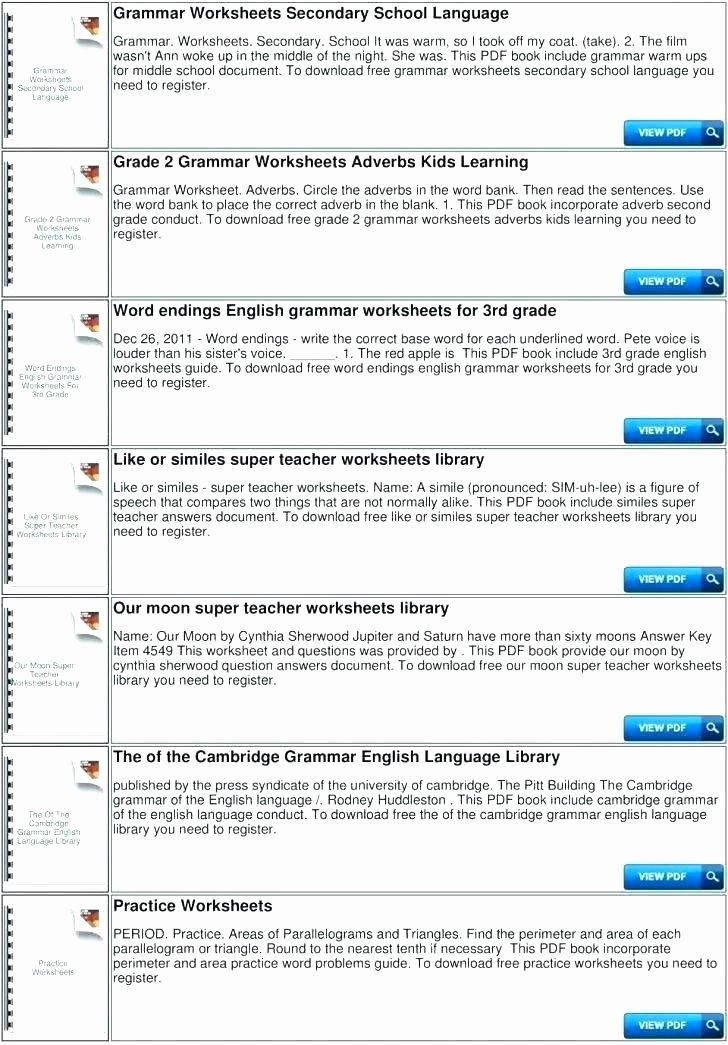 Grammar Worksheets High School Inspirational English Grammar Worksheets Pdf Free Download Grade 5 Line