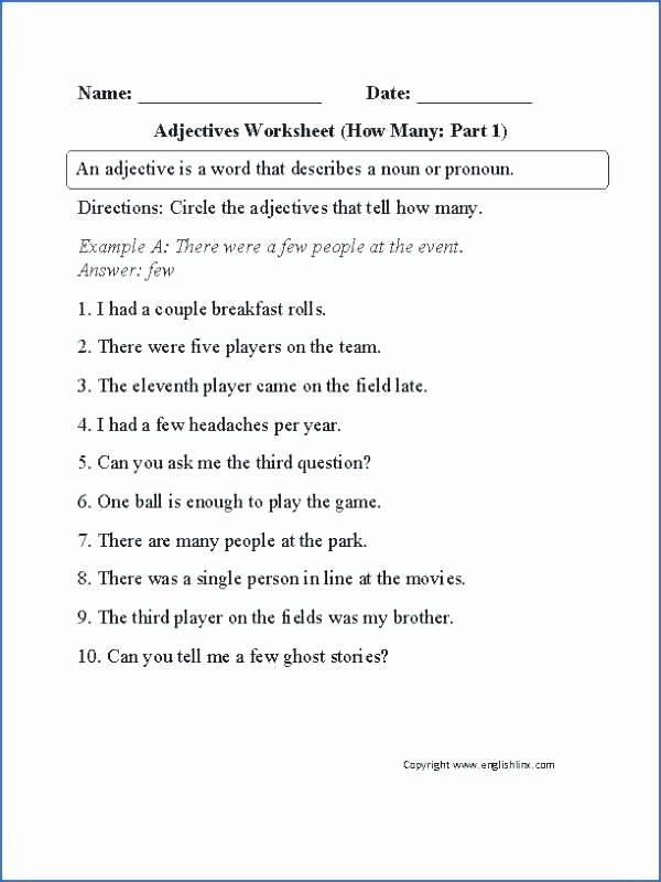 Grammar Worksheets High School Lovely I and Me Grammar Worksheets Adjectives Proper Worksheet