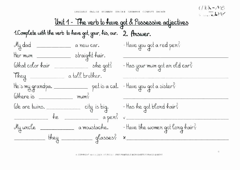 Grammar Worksheets High School Unique Grammar Worksheets for High School Practice Class 2 Free