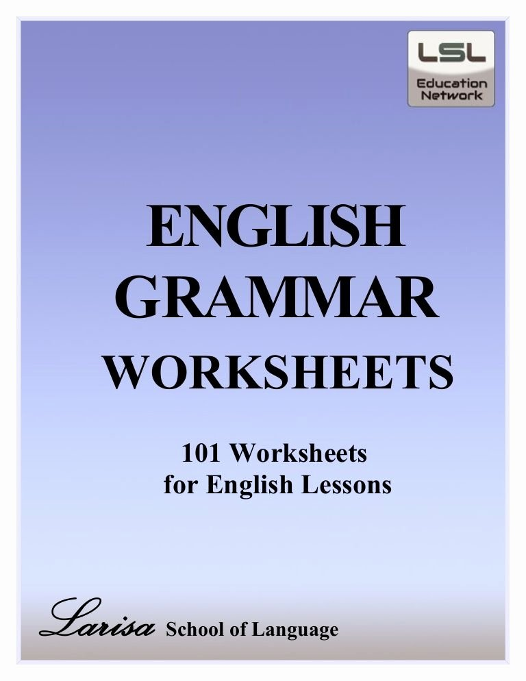 Grammar Worksheets Middle School Pdf Free Pdf English Grammar Worksheets Contains 101