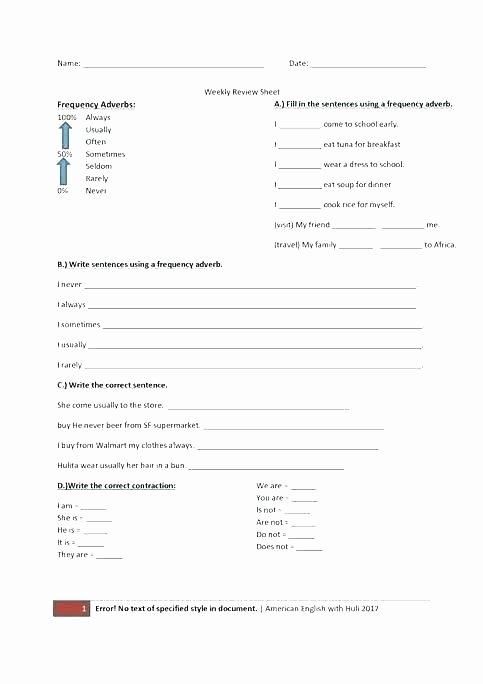 Grammatical Error Worksheets Free Printable Abbreviation Worksheets
