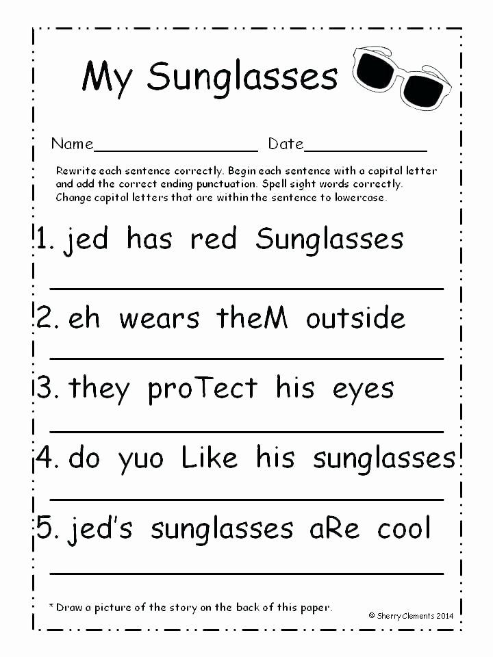 Grammatical Error Worksheets Kindergarten Grammar Worksheets for Free English Kids