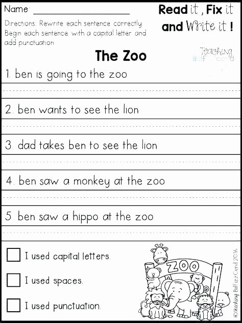 free grammar worksheets for graders grade sentence correction rewrite sentences exercises math simple ts fix the error structure 2nd