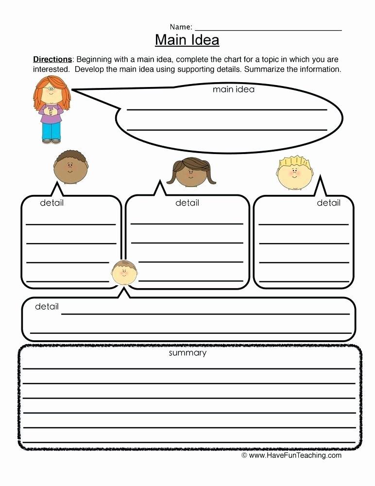 Graphic sources Worksheets Fresh Esl Main Idea Worksheets Graphic organizer Worksheet
