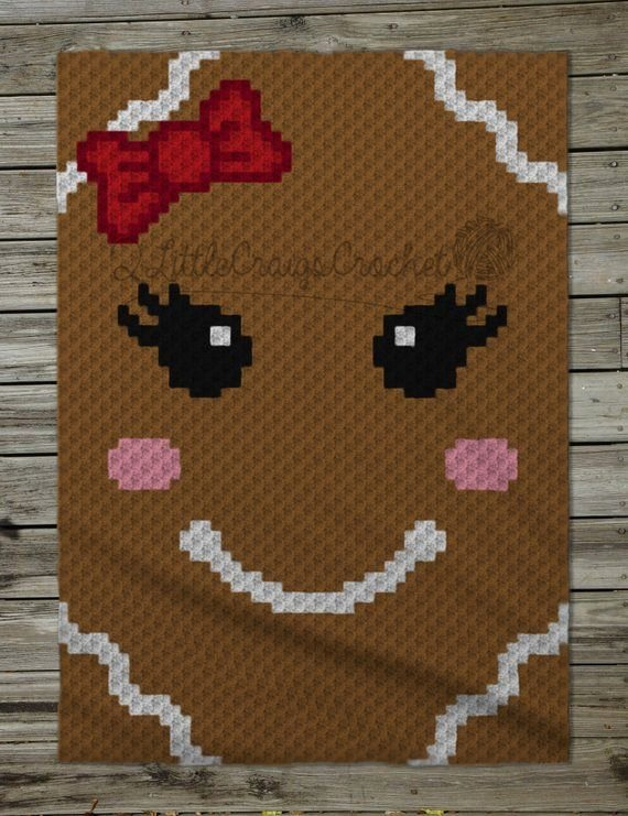 Graphing Christmas Pictures Elegant Instant Download Gingerbread Girl Crochet Graph