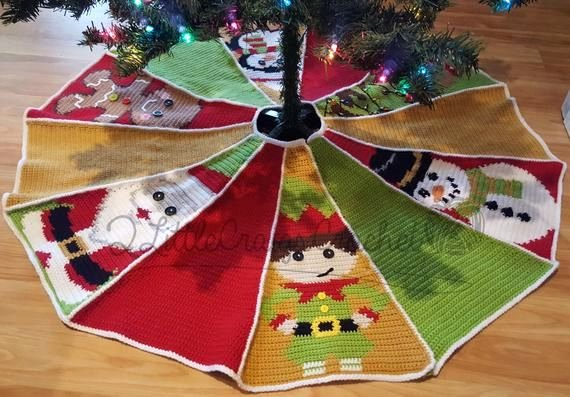 Graphing Christmas Pictures Inspirational Crochet Christmas Tree Skirt Crochet Tree Skirt Crochet