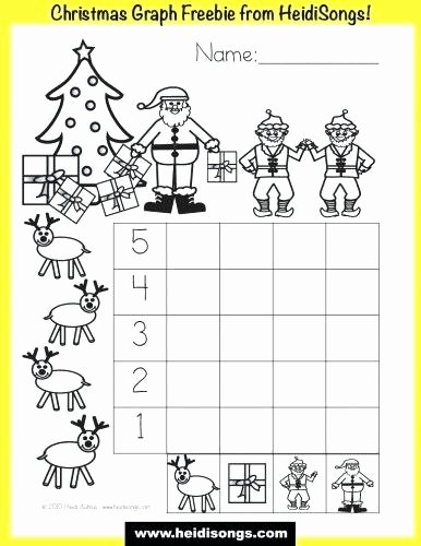 Graphing Christmas Pictures Luxury Kindergarten Christmas Graphing Worksheets