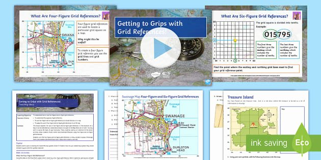 Grid Map Worksheets Free Getting to Grips with Grid References Lesson Pack
