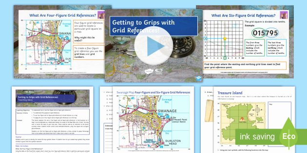 Grid Map Worksheets Grade 2 Free Getting to Grips with Grid References Lesson Pack