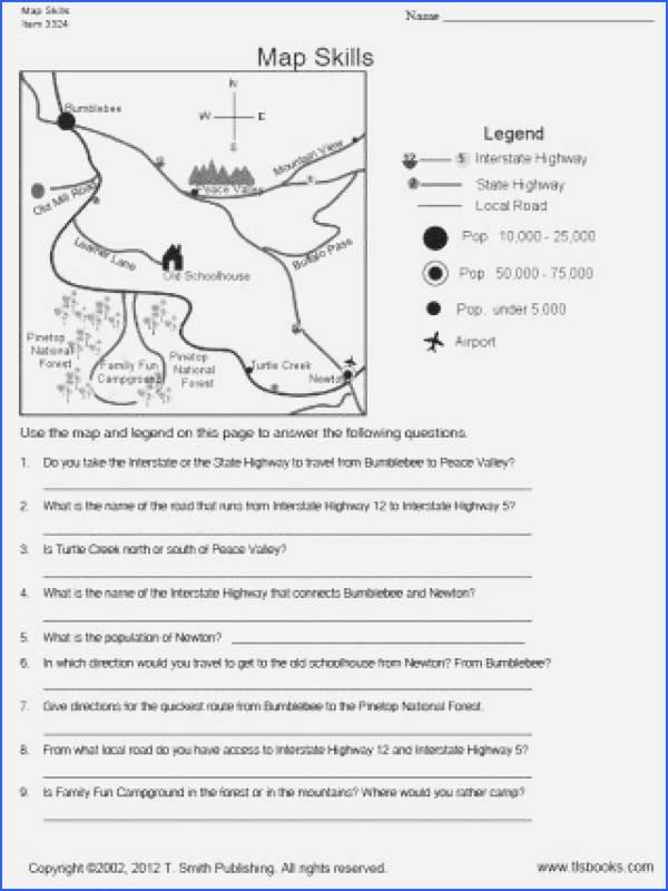 Grid Map Worksheets Grade 2 Map Skills Worksheets Best Map Worksheets