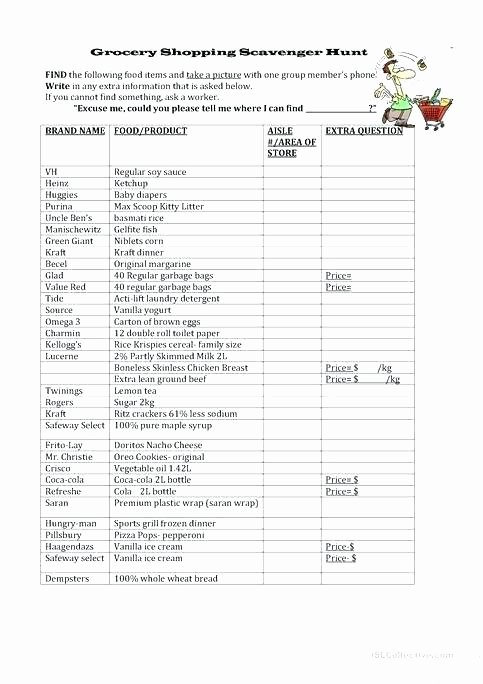 Grocery Shopping Math Worksheets Grocery Shopping Worksheets for Students