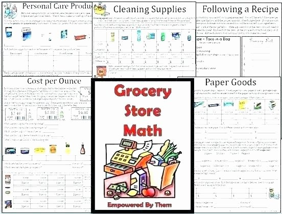 Grocery Shopping Math Worksheets Life Skills Worksheets