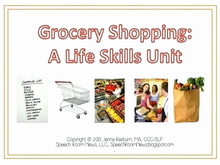 Grocery Store Math Worksheets Grocery Shopping Worksheets for Students