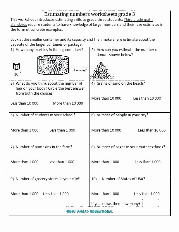 Grocery Store Worksheets Third Grade Rounding Worksheets