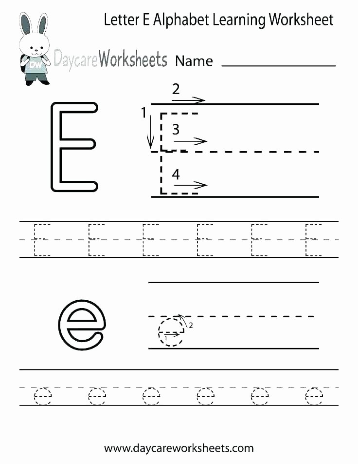 H Tracing Worksheet Letter E Tracing Worksheets Lowercase Printable for