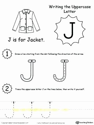 H Tracing Worksheet Letter J Worksheets Preschool Tracing N for toddlers Vector