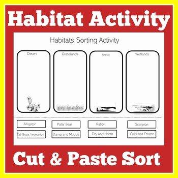 Habitat Worksheets for 1st Grade Habitat Worksheet