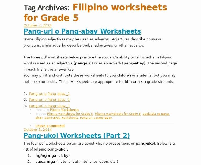 Halimbawa Ng Pang Uri Pang Uri Worksheet Grade 1 Pdf