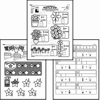 Halves and Fourths Worksheets Free Fraction Pdf Math Worksheets
