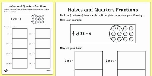 Halves and Fourths Worksheets Worksheets Of Fractions – Trubs