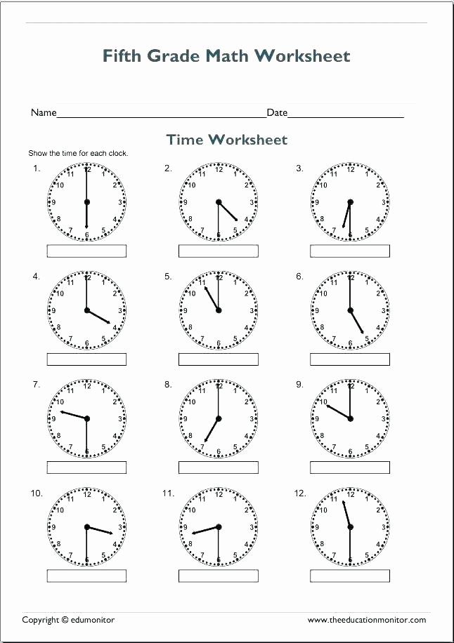 Halves Thirds Fourths Worksheets Clock Math Worksheets