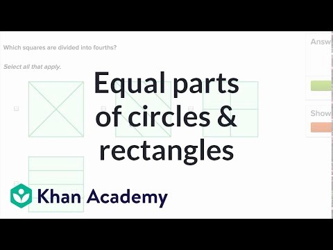 Halves Thirds Fourths Worksheets Equal Parts Of Circles and Rectangles Video