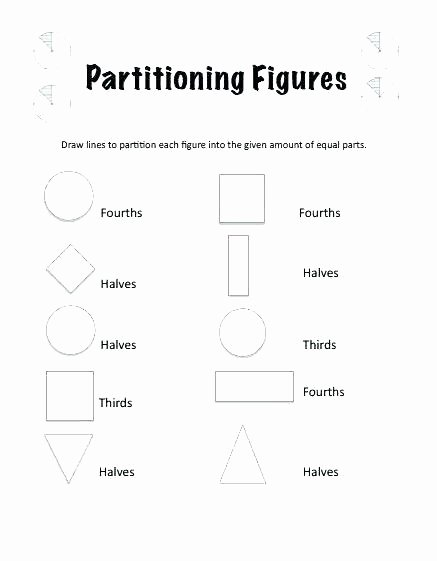 Halves Thirds Fourths Worksheets Size Partitioning A Line Segment Worksheet Free