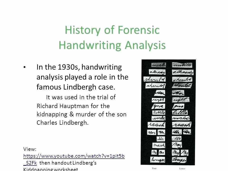 Handwriting Analysis Worksheet Beautiful forensic Science Worksheets