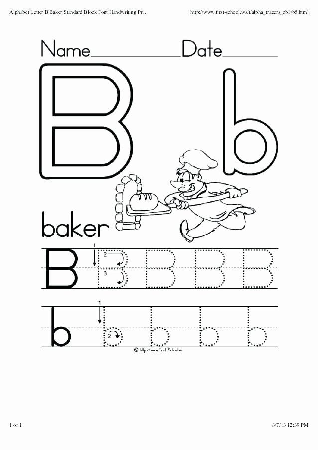 Handwriting without Tears Worksheets Pdf B and D Handwriting Worksheets Cursive for Preschool Fonts