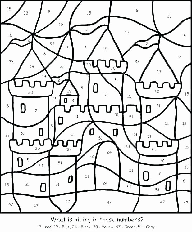 Hard Color by Number Worksheets Coloring Pages for Teenagers Difficult Color by Number Best