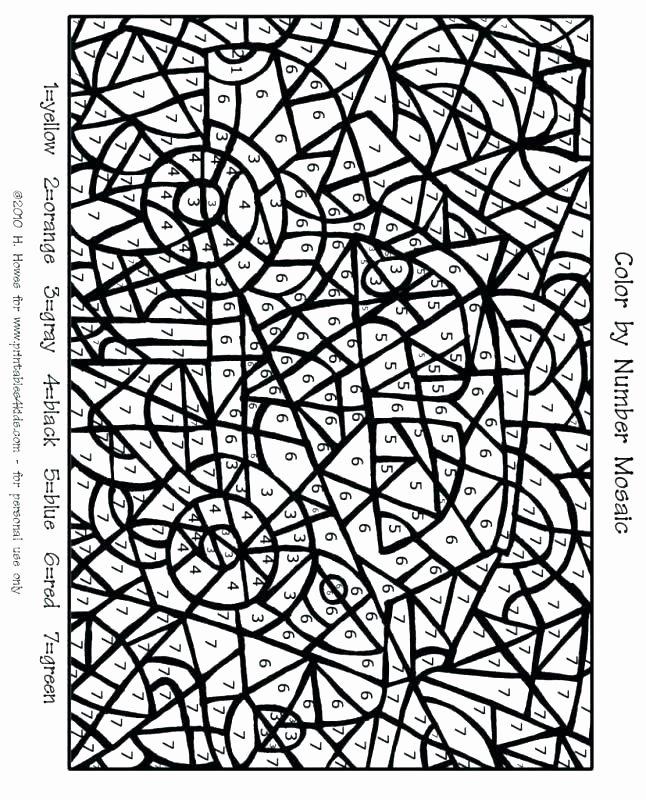 Hard Color by Number Worksheets Printable Maths Worksheets for Grade 2 Math Worksheet Grade