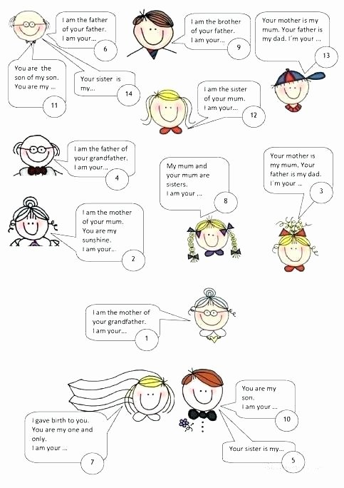 Healthy Family Relationships Worksheets Family Printable Worksheets