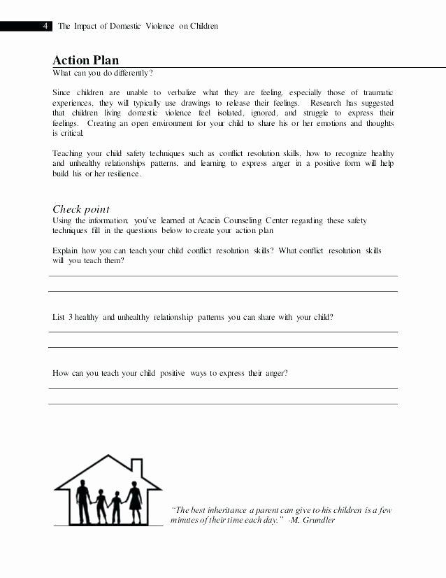 Healthy Family Relationships Worksheets social Work Worksheets