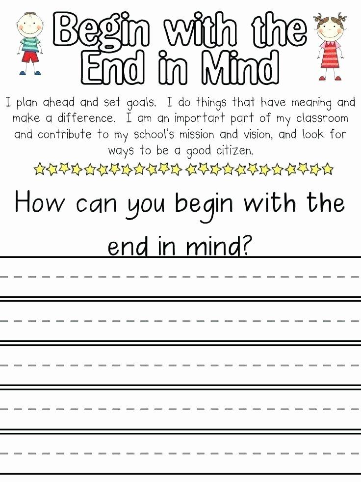 Healthy Habits for Kids Worksheets 7 Habits for Kids Worksheets