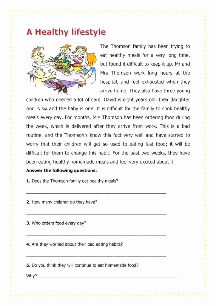 Healthy Habits for Kids Worksheets Elementary Health Worksheets Free