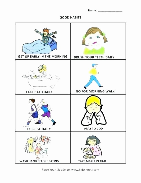 Healthy Habits for Kids Worksheets Science Worksheet for Kids Worksheets Preschoolers Preschool
