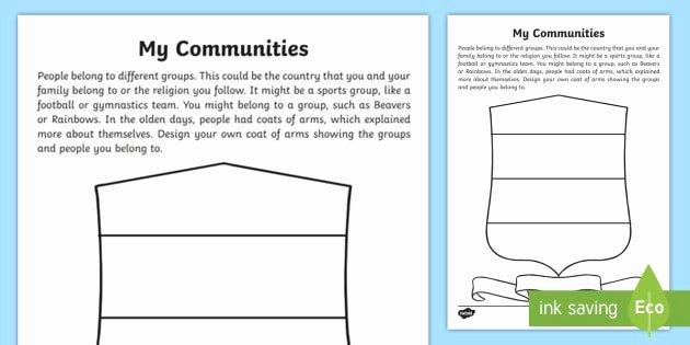 Healthy Relationships Worksheets Ks1 My Munities Worksheet Belonging Activities Clubs