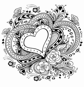 Heart Coloring Worksheet Coloring Pages with Hearts