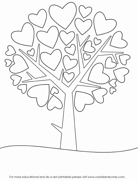 Heart Coloring Worksheet Lovely Dot Paint Coloring Sheets – Tintuc247