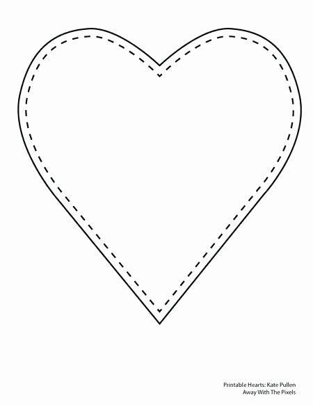 Heart Diagram Blank Luxury 8 Inch Heart Template 6 Free Printable Heart Templates 8 Bit