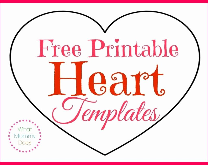 Heart Diagram Blank Unique Free Printable Heart Templates – Medium & Small